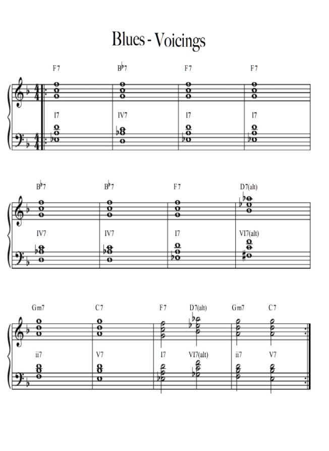 blues voicings