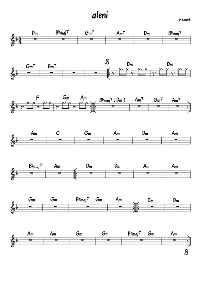 aleni (chords)  v.konak
