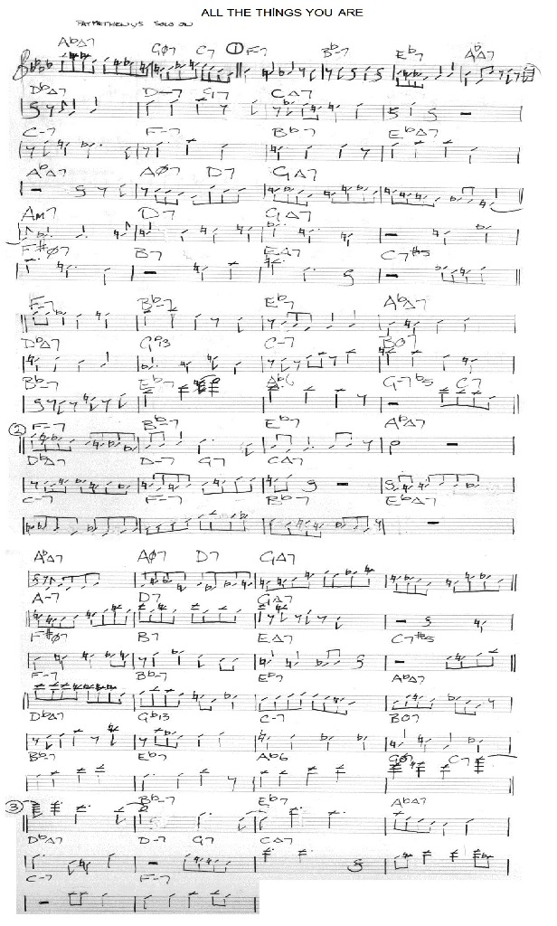 all the things you are (p.metheny transcribe)