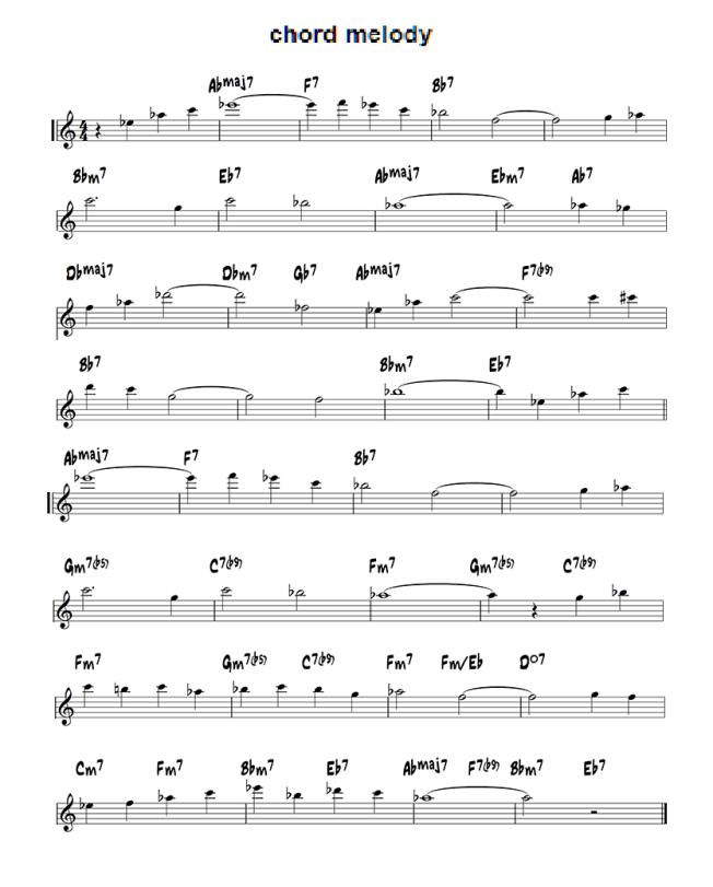 chord melody