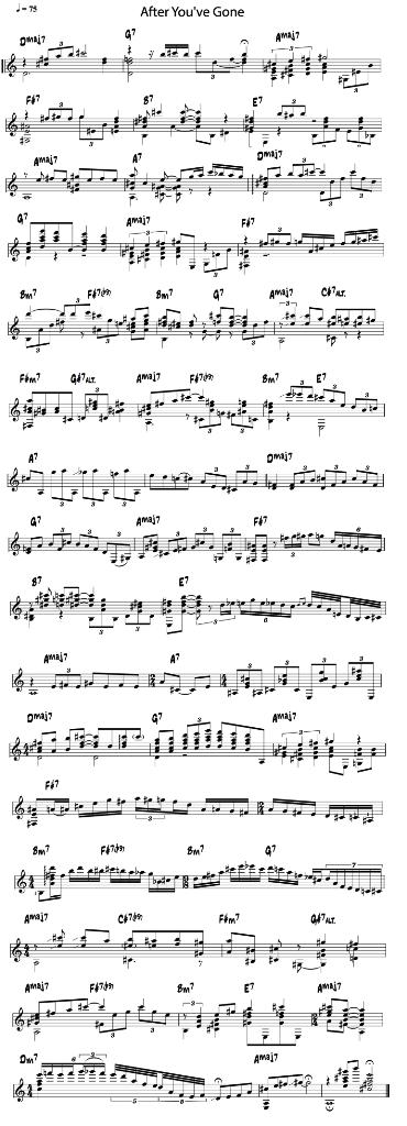 jazzguitar solo (after you've gone)