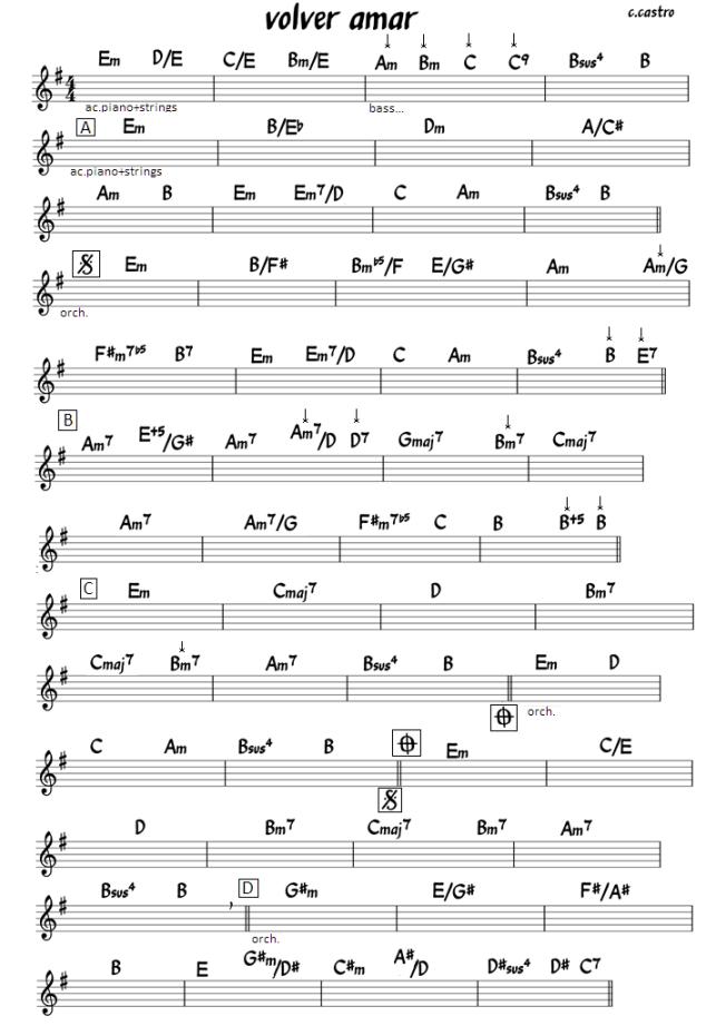 volver amar (chords)       c.castro